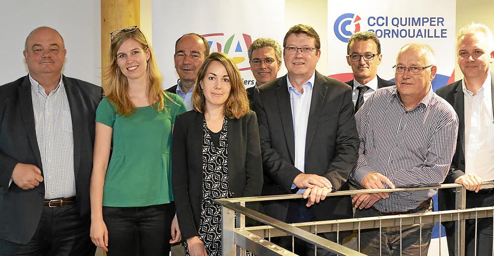Quimper-Communauté, Brest-Métropole-Océane, la CCI de Quimper et la chambre de métiers du Finistère sont les quatre organisateurs du forum Terre d'Entreprises.
