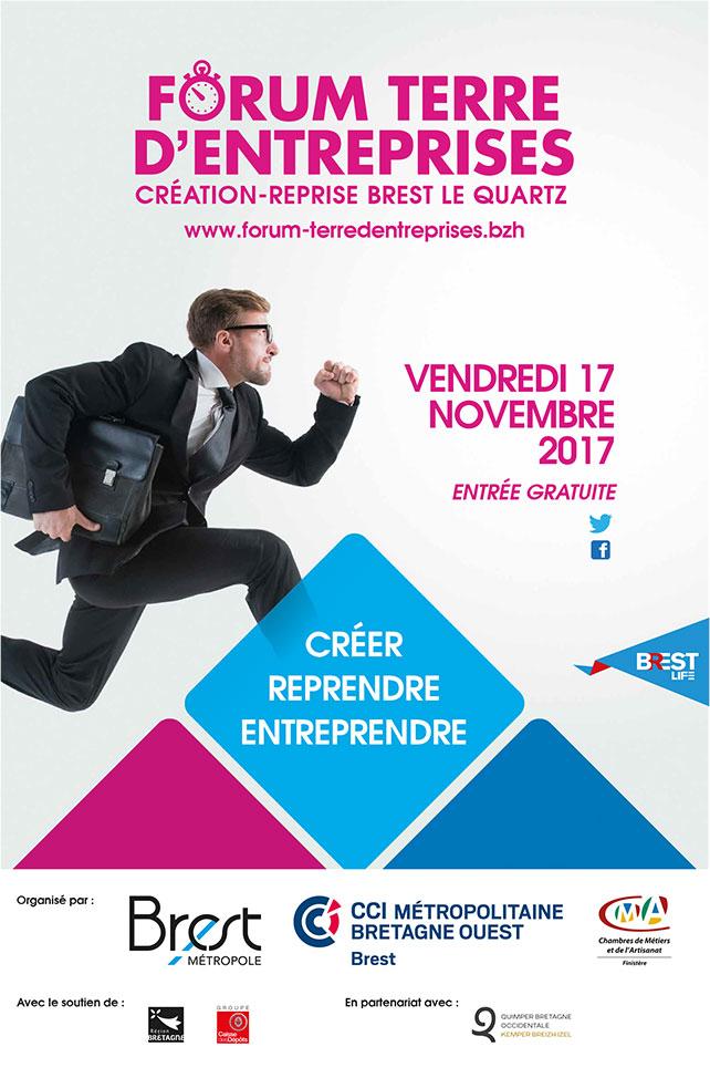 affiche Forum Terre d'entreprises-Brest 2017